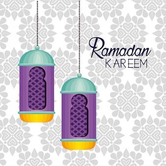 Lampendecoratie hangend aan ramadan kareem