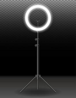 Lampflits voor selfie schieten bloggers vectorillustratie geïsoleerd op background
