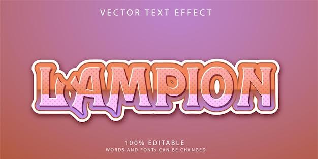 Lampion teksteffecten stijlsjabloon