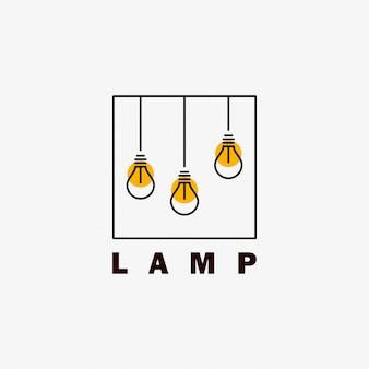 Lamplogo-ontwerp met minimalistische stijl