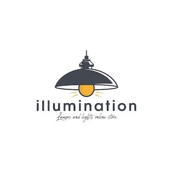 Lampverlichting logo sjabloon