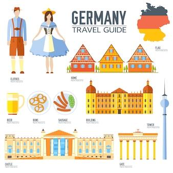 Land duitsland reis vakantiegids van goederen