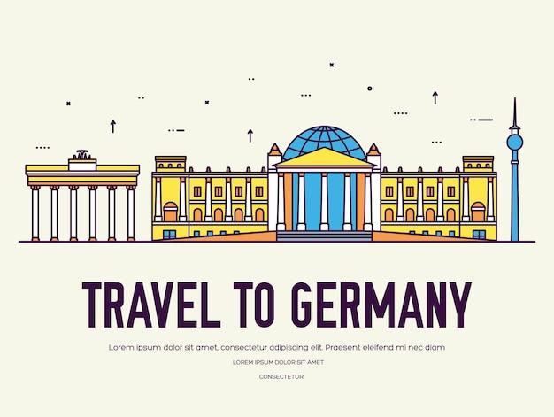 Land duitsland reizen vakantie van plaats en functie