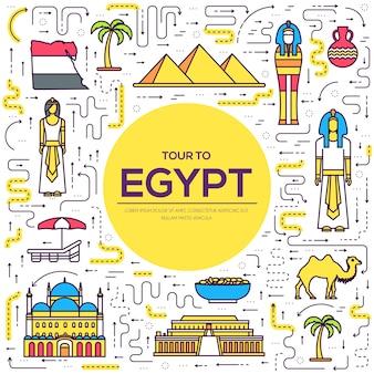 Land egypte reis vakantiegids van goederen