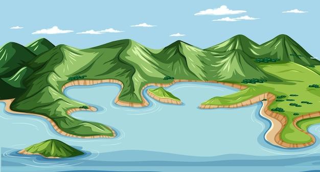 Land en water geografisch landschap