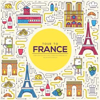 Land frankrijk reis vakantiegids van goederen