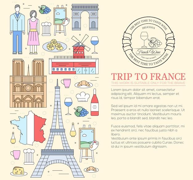Land frankrijk reisgids van goederen