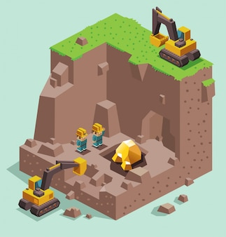 Land graven voor gold mining