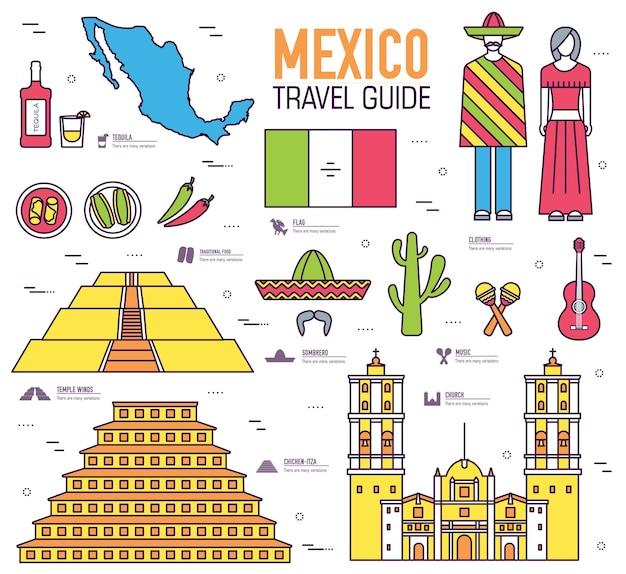 Land mexico reis vakantiegids van goederen