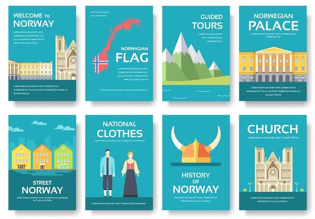 Land noorwegen reis vakantiegids van goederen