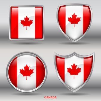 Land schuine vlag 4 vormen pictogram
