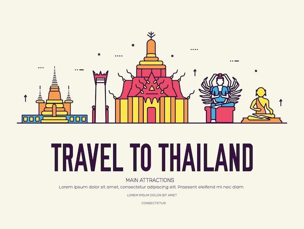 Land thailand reizen vakantie van plaats en functie