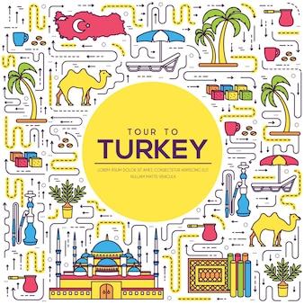 Land turkije vakantie reisgids van goederen