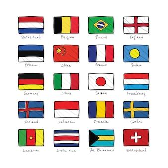 Land vlaggen pictogrammen