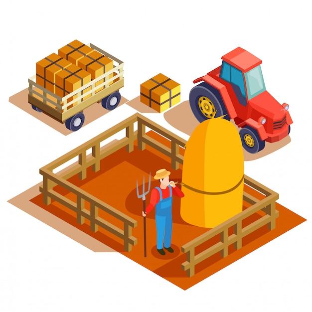 Landbouw agrimotor isometrische samenstelling
