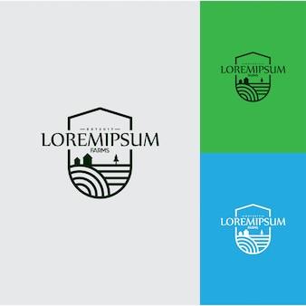 Landbouw en boerderij logo ontwerpsjabloon