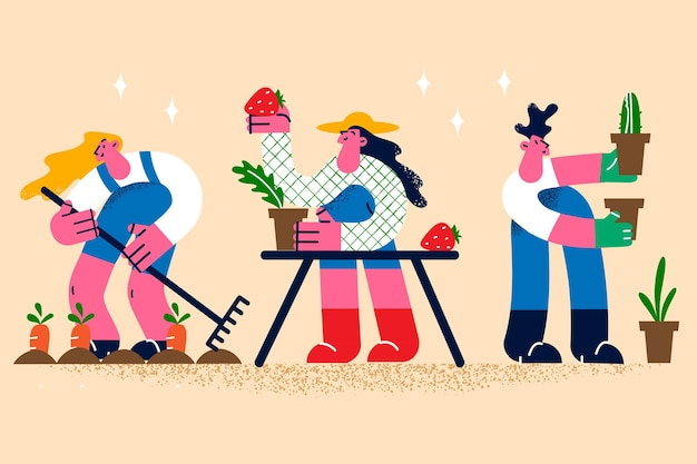 Landbouw en landbouw levensstijl concept
