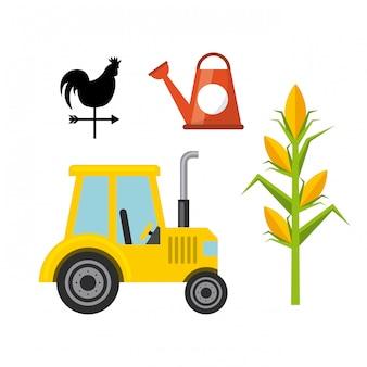 Landbouw iconen ontwerp