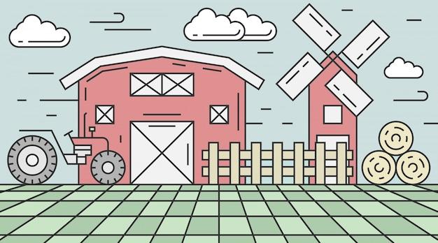 Landbouw illustratie