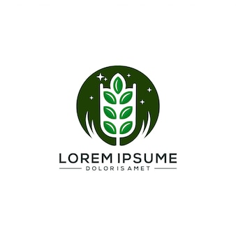 Landbouw logo sjabloon vectorillustratie