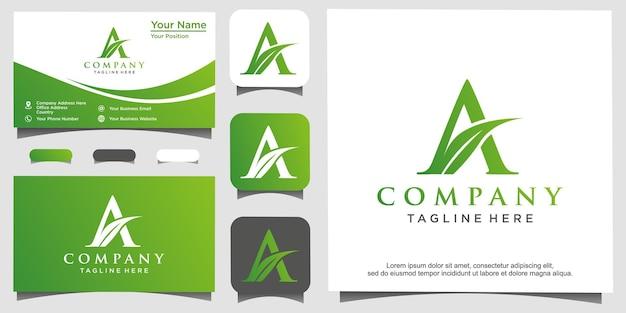 Landbouw met initiaal a logo ontwerp vector