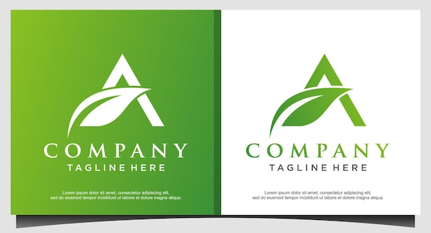 Landbouw met letter a-logo-ontwerp