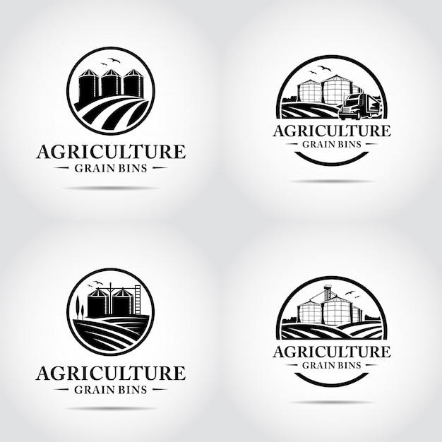 Landbouw minimalistische logo sjabloon