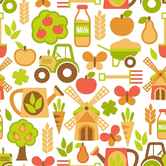 Landbouw naadloze patroon