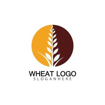 Landbouw tarwe logo sjabloon vector pictogram ontwerp