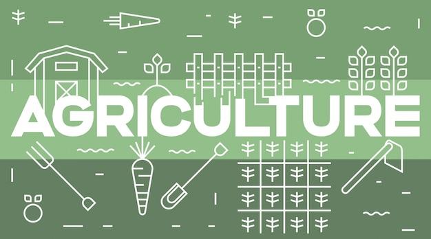 Landbouw typografie