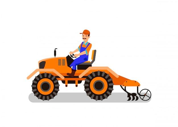 Landbouw werktuig cartoon geïsoleerde clipart