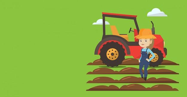 Landbouwbanner met ruimte voor tekst.
