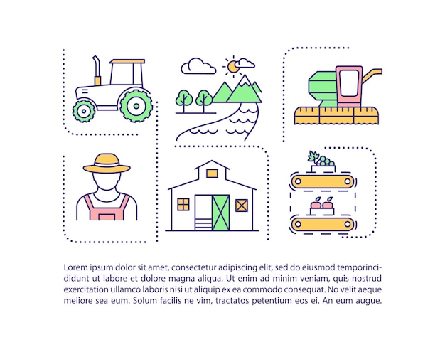 Landbouwindustrie concept pictogram met tekst