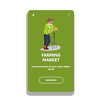 Landbouwmarkt natuurlijke groente en fruit