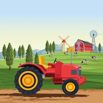 Landbouwtrekker voertuig