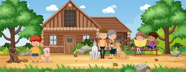 Landelijk platteland huis landschap