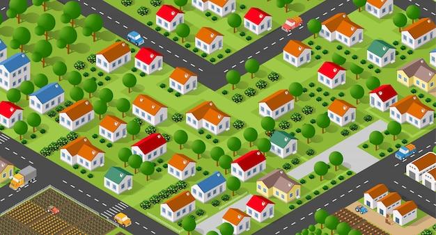 Landelijke dorpswijk