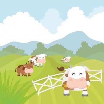 Landelijke en boerderij pictogrammen