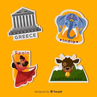 Landen reizen sticker collectie