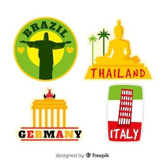 Landen sticker collectie