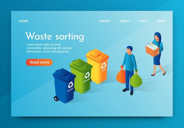 Landing banner afval sorteren verantwoordelijke samenleving.