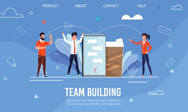 Landingspagina adverteren effectieve teambuilding