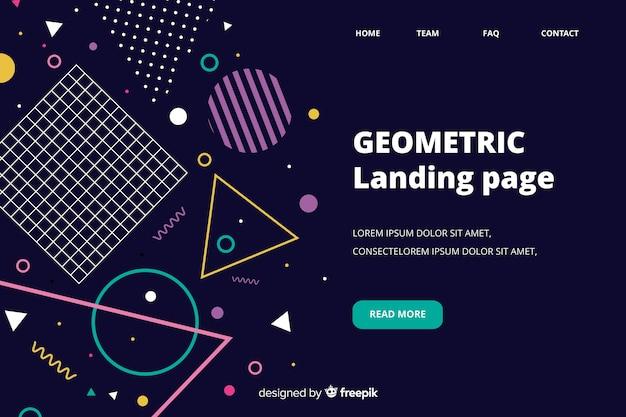 Landingspagina geometrische vormen