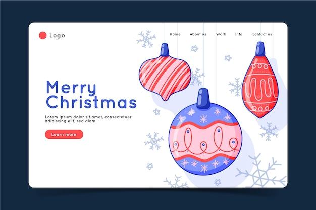 Landingspagina kerstmis in hand getrokken stijl