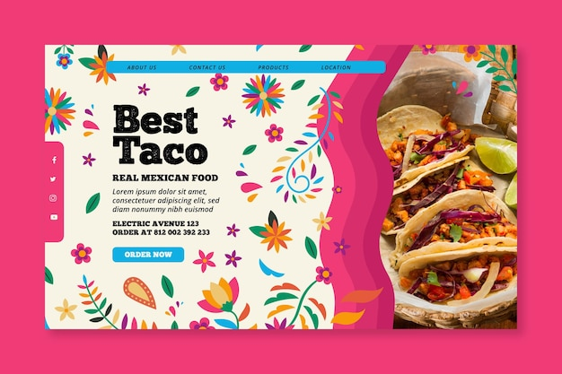 Landingspagina mexicaans eten