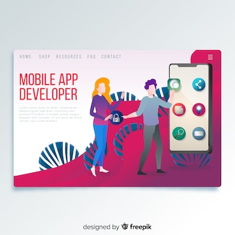 Landingspagina mobiele app-ontwikkelaar