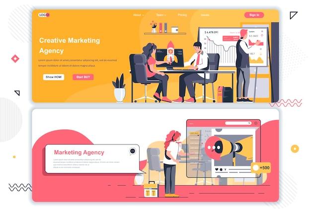 Landingspagina's van creatieve marketingbureaus