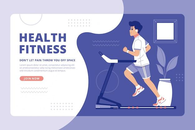 Landingspagina's voor creatief fitnessconcept