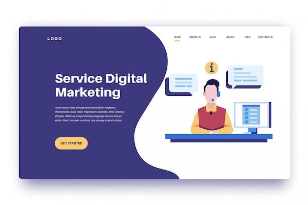 Landingspagina service digitale marketing