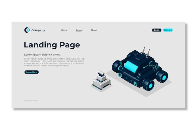 Landingspagina sjabloon. 3d-webpagina-ontwerp.
